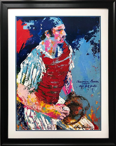 "LeRoy Neiman ""Thurman Munson"" FRAMED Art"