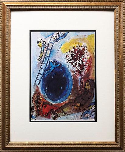 "Marc Chagall ""Jacob's Ladder"" Newly CUSTOM  Art Rare Offset Litho Religious"