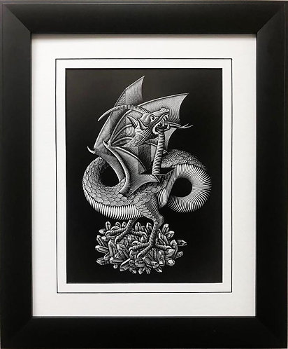 "M.C.Escher ""Dragon '52"" CUSTOM FRAMED Art"