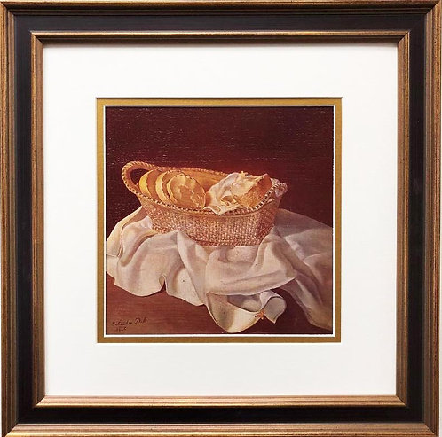 "Salvador Dali ""The Basket of Bread"" CUSTOM FRAMED ART"