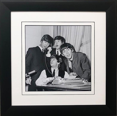 "The Beatles Collection ""Phone Interview"" Framed Poster Art"