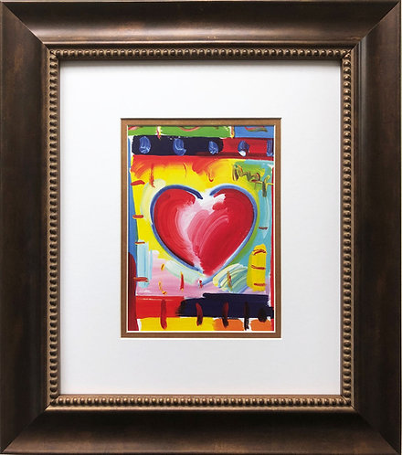 """Peter Max """"Heart '03"""" CUSTOM FRAMED Print Art POP psychedelic Contemporary"""