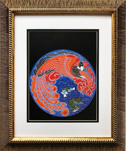 "Erte ""Dream Voyage"" CUSTOM FRAMED Print"
