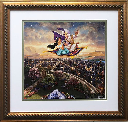 "Thomas Kinkade ""Aladdin"" New Custom FRAMED Art Print"