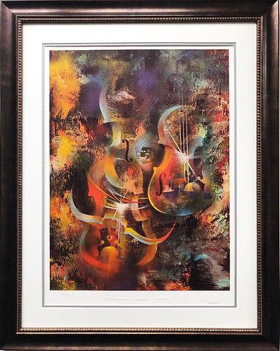 """Leonardo Nierman """"Sound of Color- Ravel"""" Framed Art"""