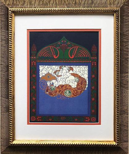 """Erte """"Russian Fairytale"""" CUSTOM FRAMED Print"""