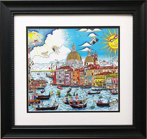 "Charles Fazzino ""The Sun Rises Over Venice"" Pop Art"