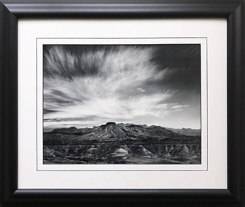 "Ansel Adams ""Burro Mesa"" Chisos Mountain Texas Custom Framed NEW ART photography"
