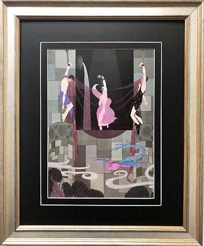 """Erte' """"The Chaste Susanna"""" New CUSTOM FRAMED Print"""
