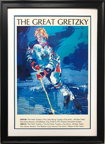 "LeRoy Neiman ""The Great Gretzky"" NEW FRAMED Art"