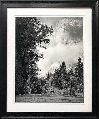 """Ansel Adams """"El Capitan"""" Custom Framed NEW lithograph ART Yosemite National Park"""