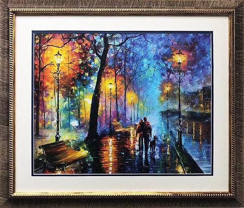 "Leonid Afremov ""Melody of the Night"" CUSTOM FRAMED Art"