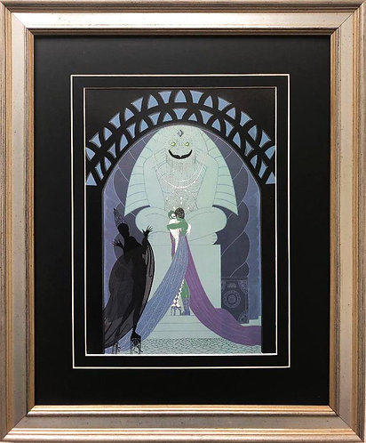 "Erte ""Lovers and Idols"" New CUSTOM FRAMED Print"