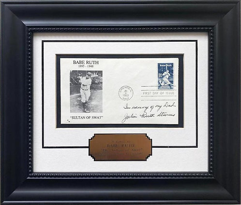 """Babe Ruth Sultan of Swat"" 1st Day Issue Stamp Cover Baseball Lmtd Framed Art"