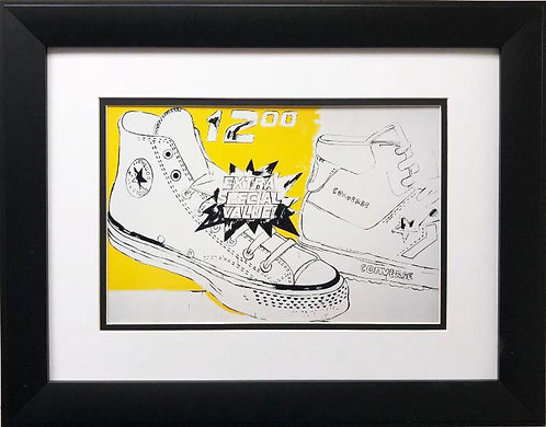 "Andy Warhol ""Converse Extra Special Value"" FRAMED Iconic Pop Art"