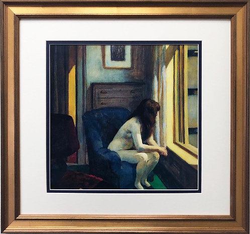 "Edward Hopper ""Eleven A.M."" ( Detail) New CUSTOM FRAMED Art"