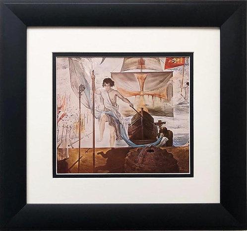 "Salvador Dali ""Discovery of America"" (detail) FRAMED ART"