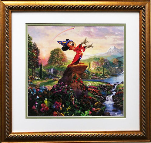 "Thomas Kinkade ""Fantasia"" New Custom FRAMED Art"