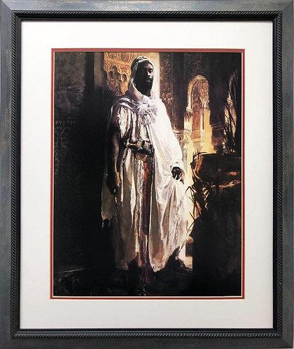 "Edouard Charlemont ""Moorish Chief"" FRAMED Art"