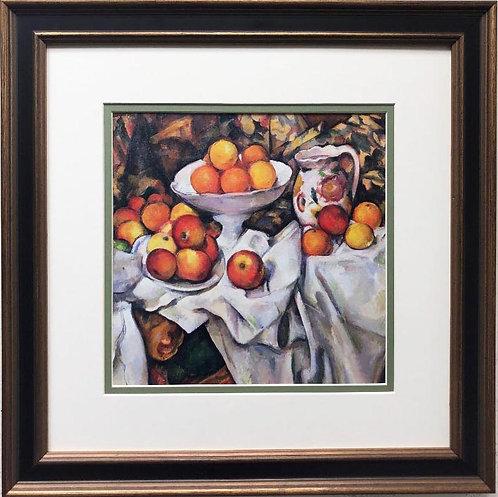 "Paul Cezanne ""Apples and Oranges"" Framed Art Print"