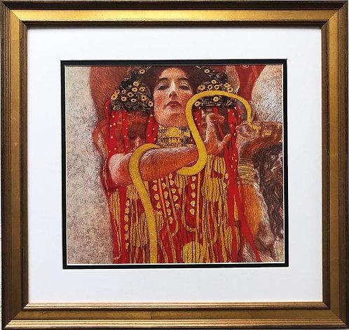 """Gustav Klimt """"Medicine (Hygieia) CUSTOM FRAMED ART"""