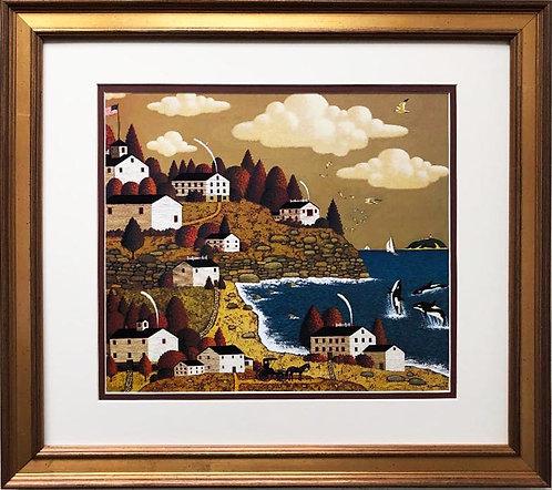 "Charles Wysocki ""Having a Whale of a Time"" New CUSTOM FRAMED Art"