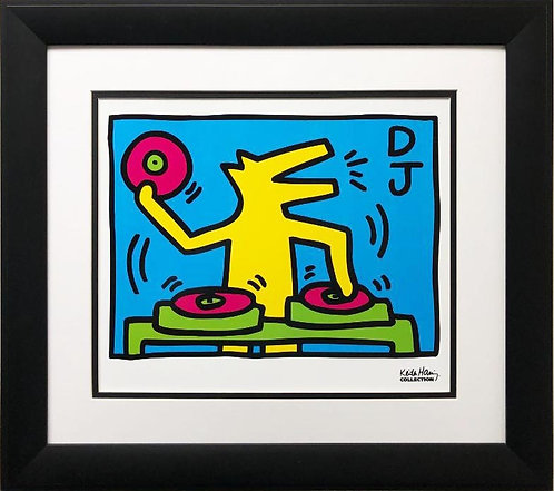 "Keith Haring ""KH07"" CUSTOM FRAMED Art Lithograph"