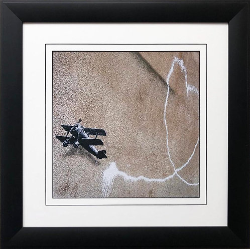 "BANKSY ""Love Plane"" New FRAMED Art"