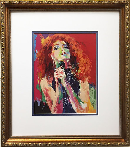 "LeRoy Neiman ""Gloria Estefan"" Newly Custom FRAMED Art print  Miami Sound Machine"