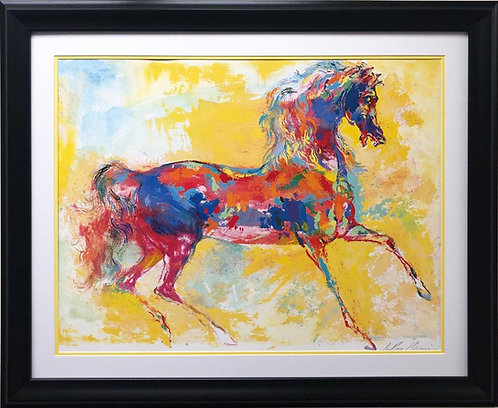 "LeRoy Neiman ""Rainbow Horse"" Custom FRAMED New Art"