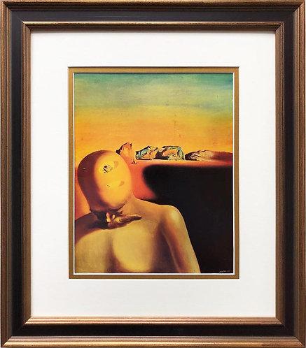 "Salvador Dali ""The Average Bureaucrat"" CUSTOM FRAMED ART"