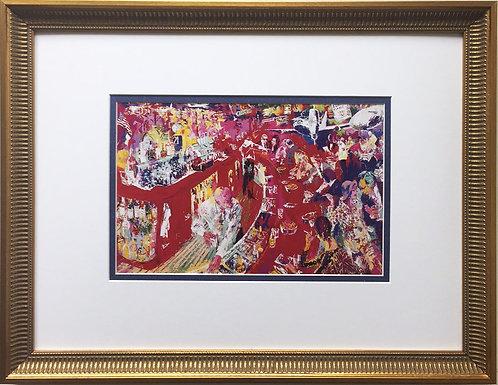"LeRoy Neiman ""21 Club Bar"" Newly Custom FRAMED ART PRINT Manhattan NYC New York"