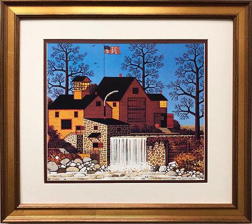 "Charles Wysocki ""A Friendly Good Day"" New CUSTOM FRAMED Art"
