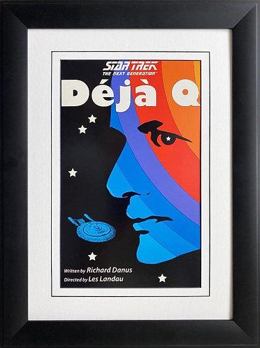 """Star Trek: The Next Generation """"Deja Q"""" CUSTOM FRAMED ART"""
