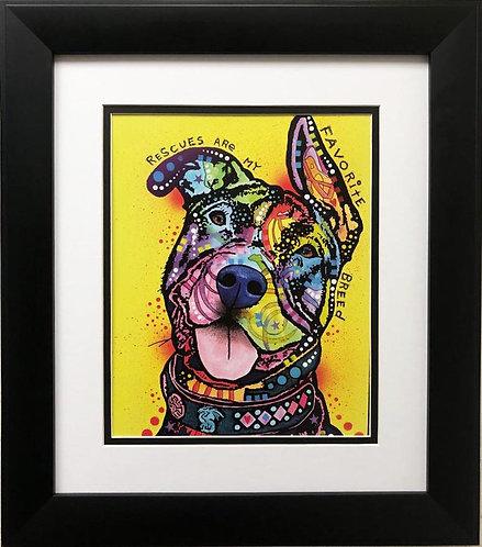 "Dean Russo ""Rescues are My Favorite Breed"" FRAMED Street Pop Art"