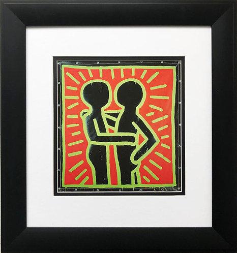 "Keith Haring ""Untitled #10"" CUSTOM FRAMED Print"