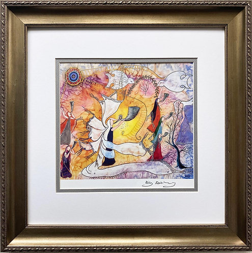 """Rothenberg """"How Beautiful Upon the Mountain"""" FRAMED Signed Art"""