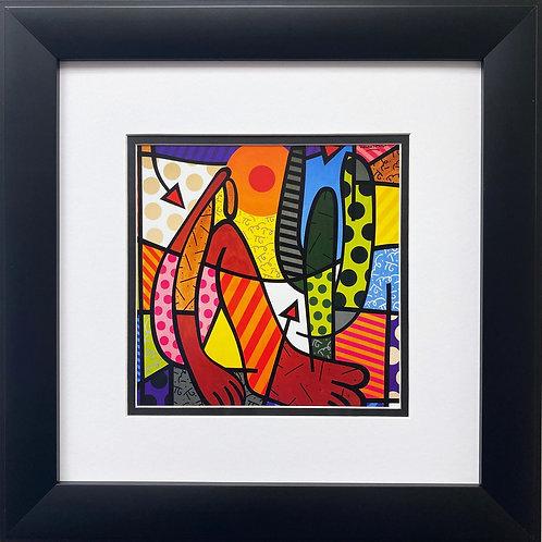"""Romero Britto """"Abapuru of Francis Marinho"""" 1995 FRAMED Pop Art"""
