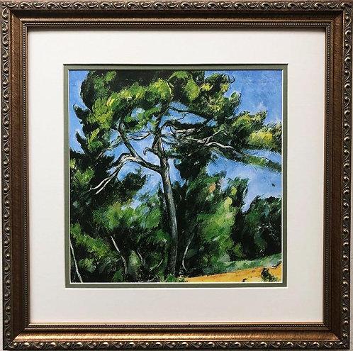 "Paul Cezanne ""The Great Pine"" Custom Framed Art Print"