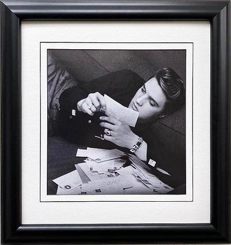 "Elvis Presley ""Reading Fan Mail"" Framed Litho Art"