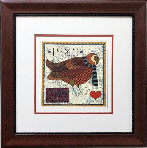 "Charles Wysocki ""1983 Commemorative Print "" CUSTOM FRAMED Hand Signed Art"