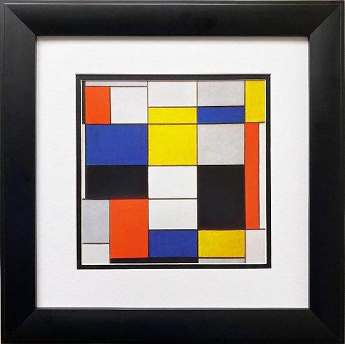 """Piet Mondrian """"Composition A."""" 1920 Framed Art Print"""