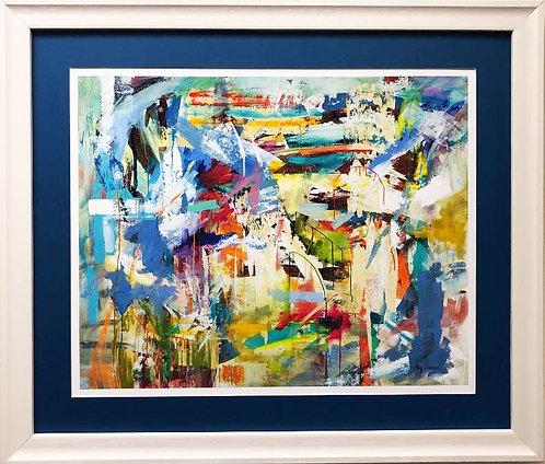 "Amy Dixon ""Be Joyful"" CUSTOM FRAMED Print"