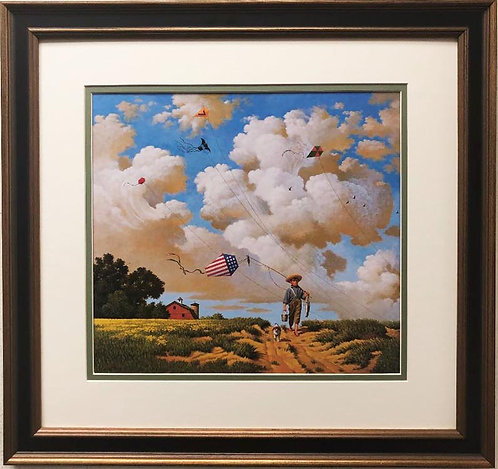 """Charles Wysocki """"Another Hard Day at the Office"""" New FRAMED Art"""