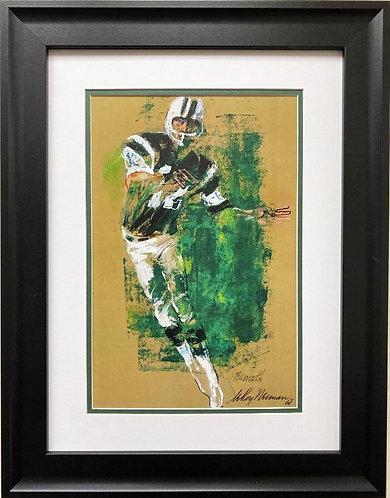 "LeRoy Neiman ""Joe Namath '68"" FRAMED New Art Print"