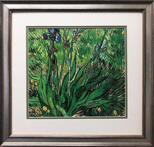 "Vincent Van Gogh ""The Iris"" CUSTOM FRAMED ART"