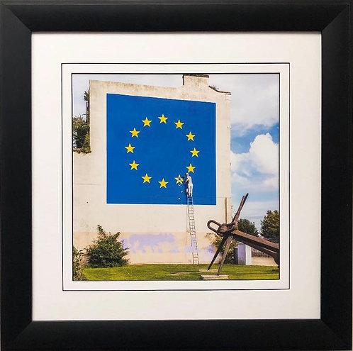 "BANKSY ""EU Flag- Brexit"" New FRAMED Art"
