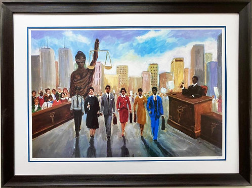 "Ted Ellis ""Champions of Justice"" FRAMED Art"