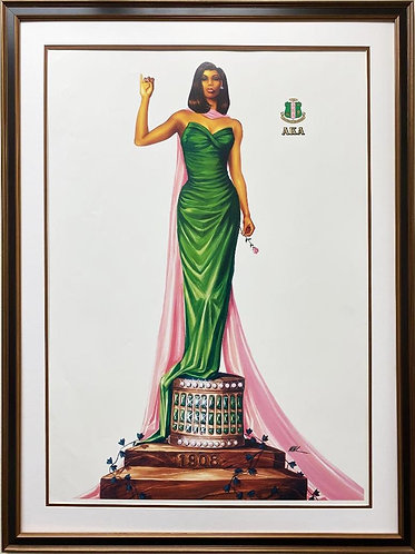 "Wak ""Twenty Pearls"" Plate Signed African American Art"