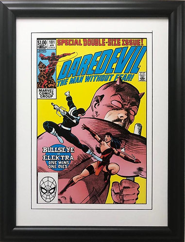 """Marvel """"Daredevil the Man Without Fear"""" # 181 Framed Poster Comic Book Art"""